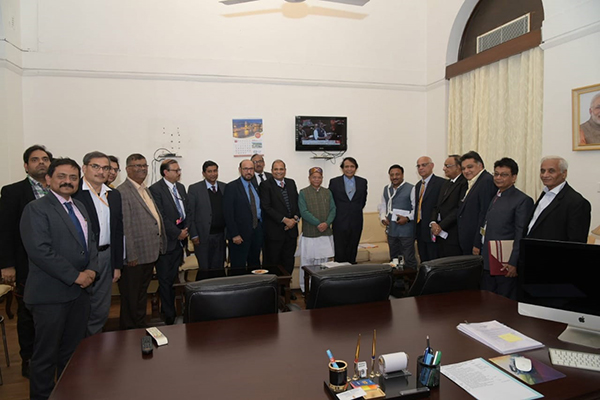 Mr Ravi Sehgal,Chairman, EEPC India and Mr Suranjan Gupta, Executive Director attend the Union Commerce and Industry Minister- Mr Suresh Prabhu`s meeting along with Mr Shiv Pratap Shukla, MOS, Finance and other Senior officers from Finance, Revenue, DGFT & Commerce Department, Representatives from FIEO, Pharmexcil, Gems& Jewellery EPC and Chemexcil.