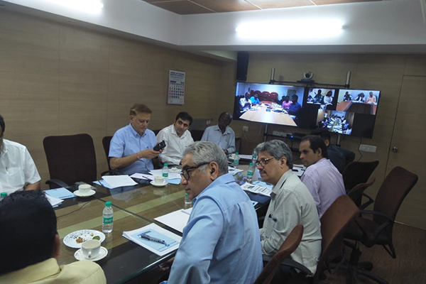 Video conferencing with other Regional Offices of EEPC India.