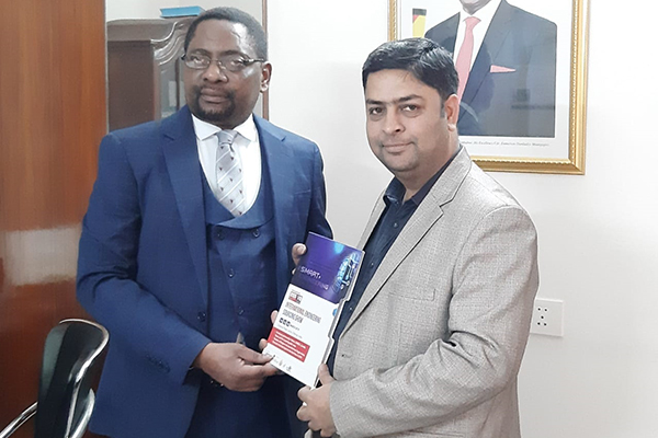 Mr Deepak Thakur, Sr Assistant Director, EEPC India meets Mr Lovemore Ncube, Counseller, Embassy of Republic of Zimbabwe  to promote IESS VIII