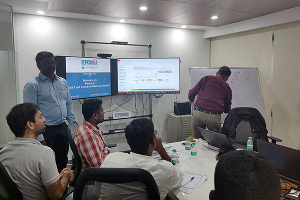 Mr. D. Karthikeyan, Assistant Head, EEPC India Technology Centre, Bengaluru briefing on the applications GD&T in an interactive session with the participants.