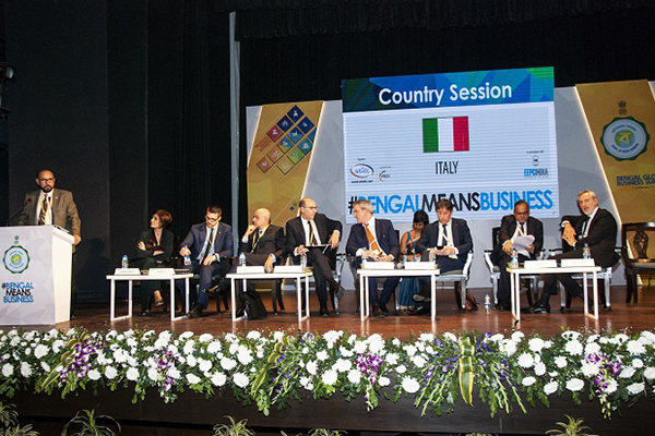 "Mr Ravi Sehgal, Chairman, EEPC India addressed "" The Country Session with Italy"" on 7th February, 2019 at the 5th Bengal Global Business Summit in Kolkata where Dr Krishna Gupta, IAS, Principal Secretary & Resident Commissioner of West Bengal; Mr. Lorenzo Angeloni, Ambassador of Italy in India; Mr. Damiano Francovigh, Consul General, Consulate General of Italy in Kolkata and Italian Sector Cluster representatives were present."