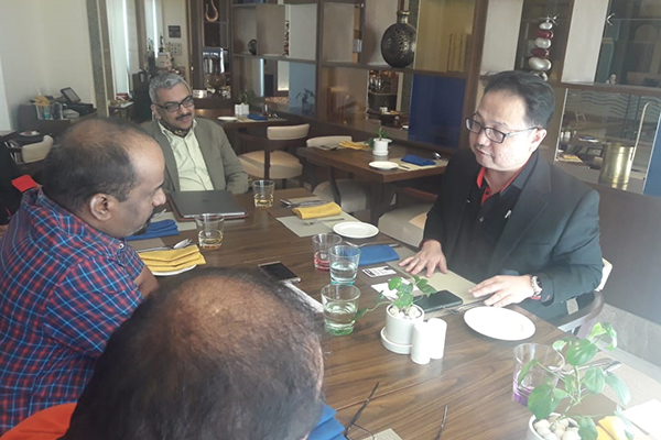 MARii (Malaysia Automotive Robotics and IoT Institute) CEO, Dato Ts. Madani Sahari meeting with local print media held over 8th February, 2019 in EEPC India (HO Cell).
