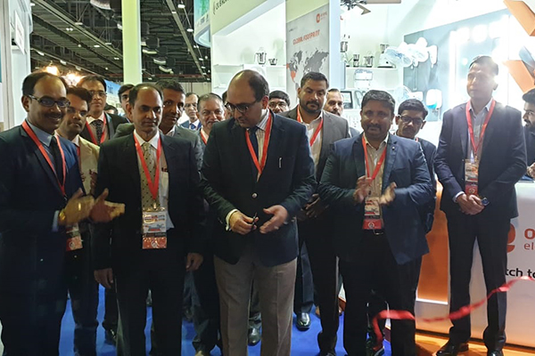 Mr Vipul, Consul General of India in Dubai. UAE inaugurates the India Pavilion at Middle East Electricity 2019. On the left, Mr Sunny Bose, Sr. Assistant Director, EEPC India is present.
