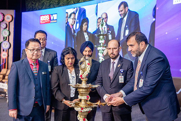 Lighting the Lamp by Dr. Anup Wadhawan, Commerce Secretary, Dept of Commerce, Ministry of Commerce and Industry, Govt of India; (on his right)  Mr. Ravi Sehgal, Chairman, EEPC India, Mr. B. S. Bhalla, Joint Secretary, Dept of Commerce, Ministry of Commerce and Industry; Datuk K. Talagavathi, Deputy Secretary General, Ministry of International Trade & Industry, Govt. of Malaysia and Dato' Madani Sahari, CEO, Malaysia Automotive Robotics & IoT Institute (MARii) and H.E. Dato Hidayat Abdul Hamid, High Commissioner of Malaysia present at this Ceremony.