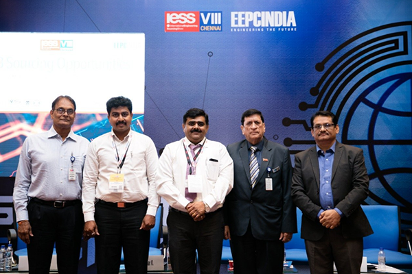 Global Sourcing Meet saw ABB on the third day of IESS VIII ( an EEPC India show). (L-R) Mr. Amrit Jalavadia, Chairman, Committee on Trade with Central Europe, EEPC India; Mr. Premkumar V., Global Sourcing Programme Manager, EMS; Mr. Ravi Kumar K., Manager, Procurement & Logistics (Electric Strategic Sourcing, ABB; Mr. K. L. Dhingra, Regional Chairman (WR), EEPC India and Mr. C. H. Nadiger, Regional Director (SR), EEPC India.
