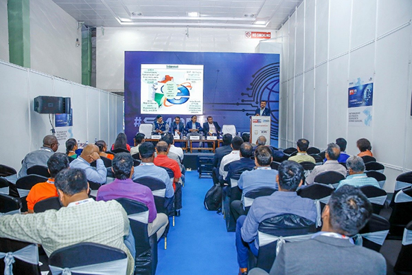"Mr. Vishal Grover, Vice President- Sales, Trade India addressing the gathering at the Session on E-Marketplace held over 16th March, 2019 at IESS VIII in Chennai Trade Centre, Chennai. The dignitaries present on the dais are, (L-R) Mr. Ramesh Mahadevan, Business Facilitator for Tamil Nadu & Pondicherry Government e-Marketplace (GeM); Mr. Anubhav Kumar, Business Development Advisor, Alibaba; Mr. P. R. Venkatachalam, Working Committee Member, EEPC India and Mr. Naman Shah, Co-founder, NowPurchase ""Simplifying Industrial Procurement Using Technology""."