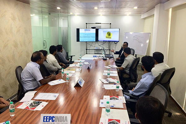 MasterCAM training session delivered by Mr. Sitansu Mohanty, Director-Technical, Mastercam India (sitting far right)