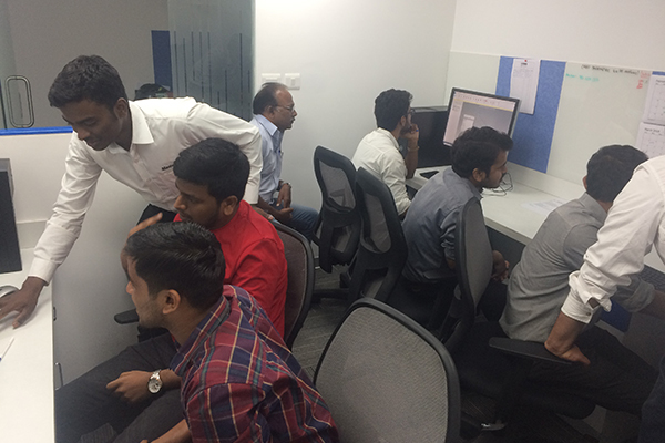 MasterCAM handson Software training is going on