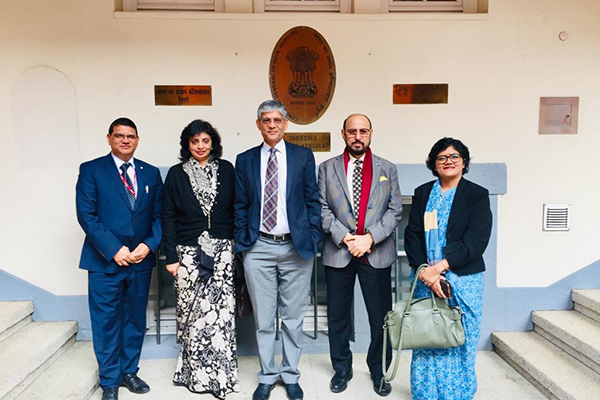 EEPC India Chairman, Mr. Ravi Sehgal along with Dr. A. R. Sihag, Secretary, Department of Heavy Industry visits Consulate General of India (CGI)  office   in Hamburg. Mr. M. L. Raigar, CGI, Hamburg, Ms. Sukriti Likhi, JS, DHI and Ms. Pallavi Saha, Sr. Deputy Director, EEPC India also present.
