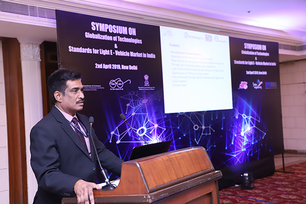 Mr. Rajiv Ranjan, Scientist, Bureau of Indian Standards addressing the audience
