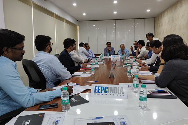 EEPC India Technology Centre in Bengaluru organised a Meeting on IPR with MSME on 16th April, 2019 where an introductory talk on IPR was given by Mr. R. Seshagiri, Dy. Regional Chairman (SR), EEPC India. The dignitaries present in the discussions are, Dr. Suresh Kumar, Scientist (F), Office of the Principal Scientific Adviser, Government of India (at the head table) who had set the agenda for the Roundtable discussion; (to his left) Mr. R. Seshagiri, Dy. Regional Chairman (SR), EEPC India;  Mr N G Lakshminarayan, Chief, IP Facilitation Centre, NRDC, who had given presentation for services on Patents to MSMEs. Mr. Nitin Chakki, Manager -  Invest India; Mr. Yatishwar Dravid, Head-TIME2, IISc; Mr. Satish Kumar, Asstt. Director, DCMSME; Mr. D. Karthikeyan, Asstt. Head, EEPC India Technology Centre, Bengaluru; Mr. V. C. Ravish, Sr. Executive Officer, EEPC India, SRO Hyderabad were also present. Mr. C. H. Nadiger, Regional Director (SR), EEPC India had given his welcome address at the meeting.