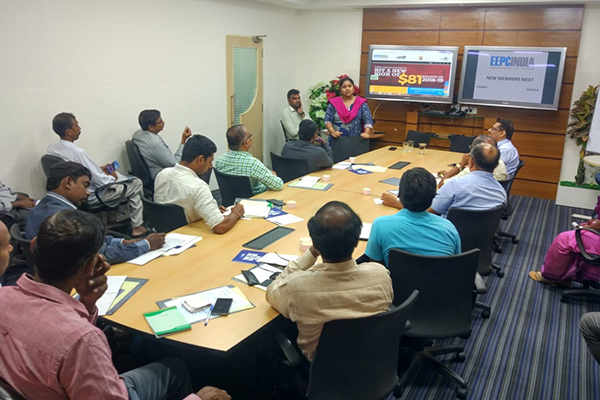 Ms. K Suganya, ITS, Dy. DGFT, Zonal Jt. DGFT, Chennai is making presentation on DGFT role in Exports & Imports.