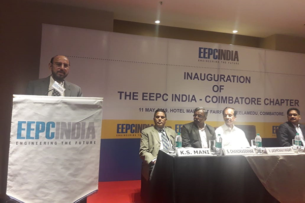 Mr Ravi Sehgal,Chairman,EEPC India delivering the keynote address.