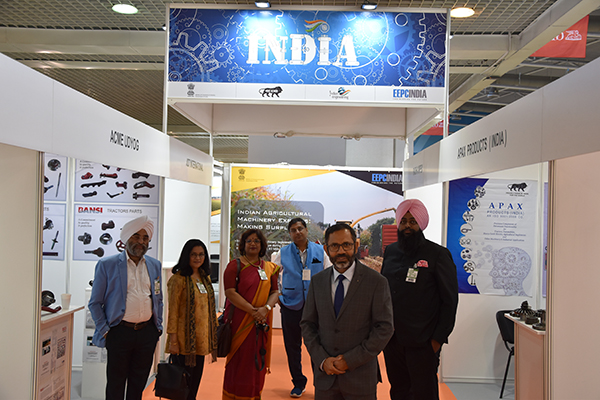 HE Mr S Bhattacharjee, Ambassador of India in Serbia at the EEPC India Pavilion in the Fair