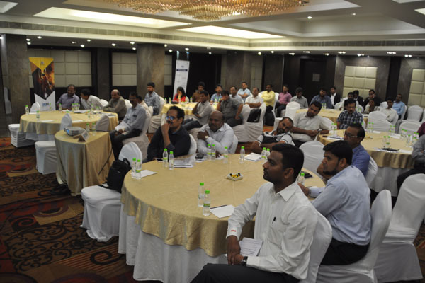 Gathering at the Session where Mr. V C Ravish, Assistant Director, EEPC India, Hyderabad (SRO) is seen.