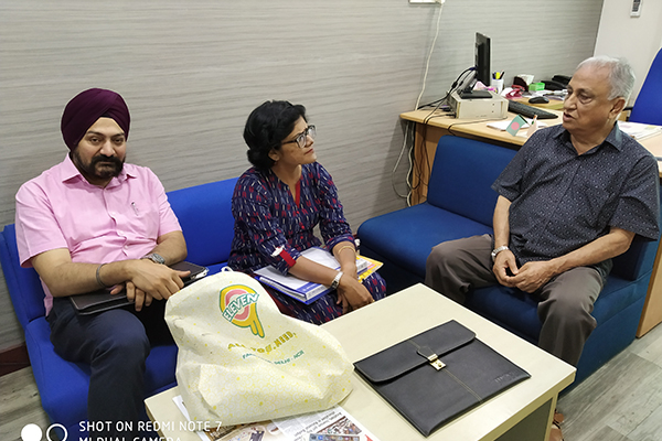 Mr.  Gurvinder Singh,  Director Exhibitions,  EEPC India and Ms.  Pallavi Saha,  Sr.  Deputy Director,  EEPC India in a meeting with Mr.  Jahangir Bin Alam,  Secretary and CEO,  India Bangladesh Chamber of Commerce & Industry.