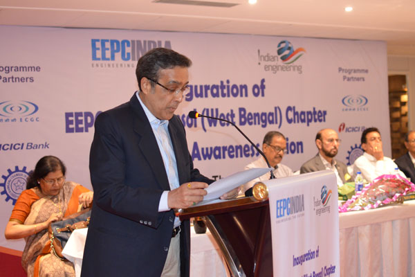 Mr Arun Kumar Garodia, Vice Chairman, EEPC India delivering the Welcome Address.