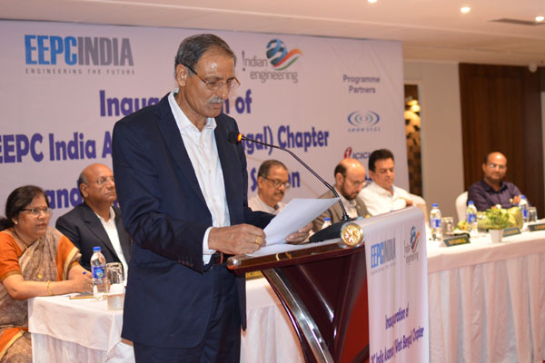 Mr L P Gupta, Convenor, EEPC India Asansol Chapter & Dy Regional Chairman (ER), EEPC India, addressing the audience.