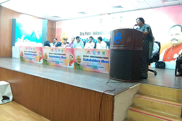 Ms. Anima Pandey, Regional Director (ER) & Director (Membership), EEPC India is addressing at the Meet.