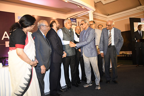 Mr Ramesh Maheshwari ,Past Chairman, EEPC India receiving awards on behalf of TEXMACO from H.E.MrJagdeep Dhankhar, Hon`ble Governor of West Bengal