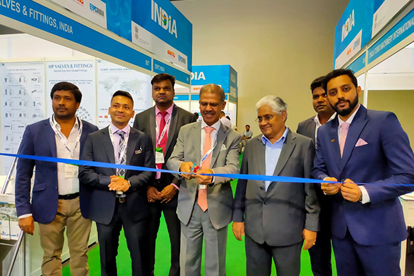 EEPC India managed India Pavilion at Asian Utility Week &PowerGen Asia 2019 in Malaysia inaugurated by Indian High Commissioner to Malaysia, Mr Mridul Kumar (4th from left; (to his left) the Co-Chairman, ASEAN India Business Council, Dato` Ramesh Kodammal, and (to his right) Mr V Kumar, Asstt. Director, EEPC India.