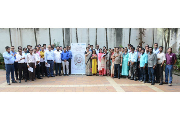 The employees of EEPC India HO & RO are united at their office premises in Pledge Taking Ceremony on the occasion of Rashtriya Ekta Diwas Celebration to commemorate the birth anniversary of Sardar  Vallabhbhai  Patel
