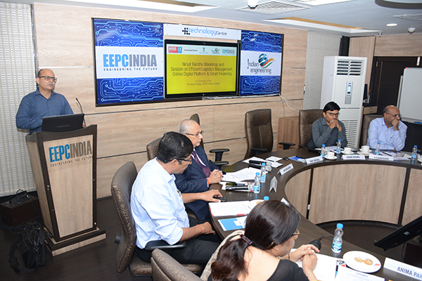 Mr S S Chouhan, Dy Director, Export Inspection Agency, Kolkata addressing on Online Digital Platform launched by Govt. of India