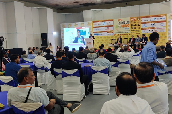 Mr Suranjan Gupta, Executive Director, EEPC India is addressing in the 3rd International Cable and Wire fair
