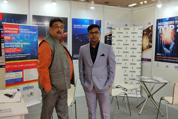 EEPC India also has a booth at the fair where Mr. Gavinder Pal Malhotra, Sr. Asstt. Director, EEPC India is seen.