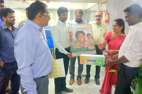 EEPC India RO Chennai offices observes Flag day with Poster and fund raising boxes to help children