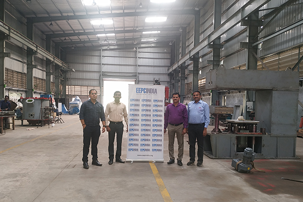 EEPC India officials visiting the Plant of Rhino Machines Pvt. Ltd.