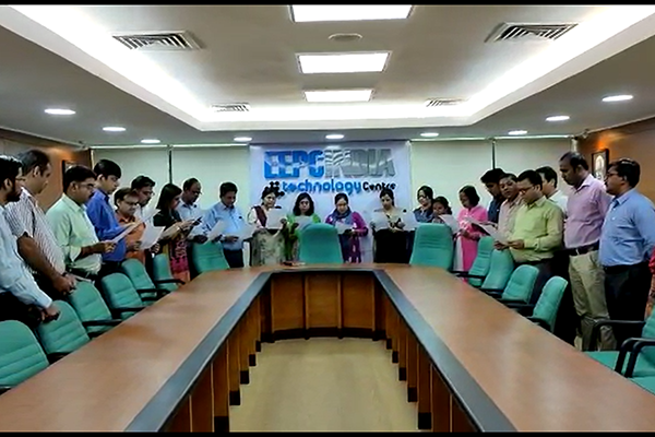 EEPC India, HO & RO, Kolkata employees reading Preamble of The Constitution of India at their office