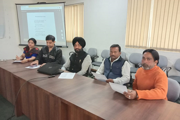 EEPC India, SRO, Jalandhar employees reading Preamble of The Constitution of India at their office