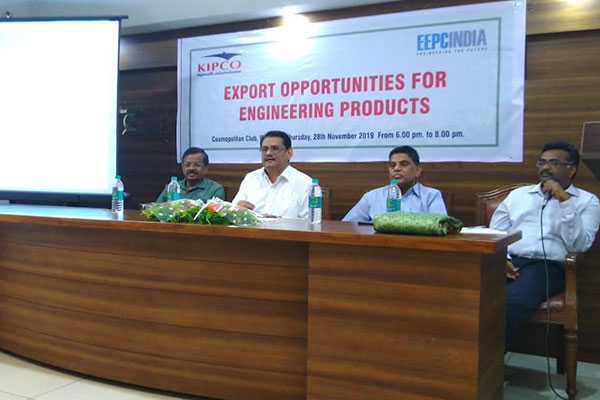 Mr. C.H. Nadiger, Regional Director (SR), EEPC India is making presentation on Export Opportunities for Engineering Products at IESS IX