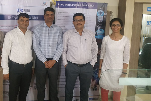 Mr S Nair, Dy. Director (2nd from right) with some new members at EEPC India (SRO), Ahmedabad.