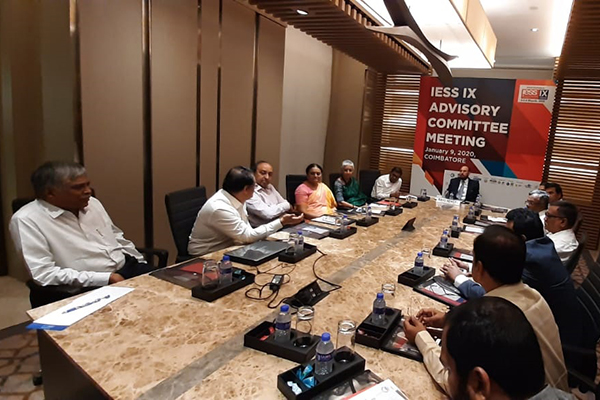 Mr. C H Nadiger, Regional Director (SR), EEPC India (2nd from Left) is interacting about the event with the EEPC India Chairman, Mr Ravi Sehgal while others look on.