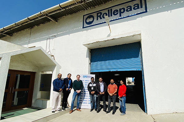 EEPC India officials at plant of Rollepaal Engineering India Pvt Ltd.