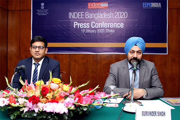EEPC India Director (Exhibitions), Mr Gurvinder Singh & Indian High Commission in Bangladesh, Second Secy/Comm Representative, Dr Pramyesh Basall briefed the Dhaka Press on the 41st edition of India`s largest Engineering multiproduct exhibition-INDEE  slated for 22nd January start.