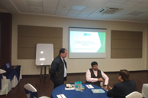 Mr Mishir Shah - Consultant  is interacting with some member-exporters at the session.