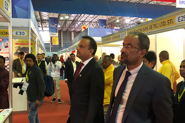 VIP tour  of  the Indian Engineering Pavilion.