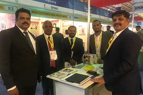 H.E. Mr. Demeke Atnafu Ambulo, the Consulate General of Ethiopia in Mumbai along with  Dr Rajat Srivastava, Regional Director ( WR) & Director (Marketing & Sales), EEPC India taking a tour of Indian Engineering Pavilion