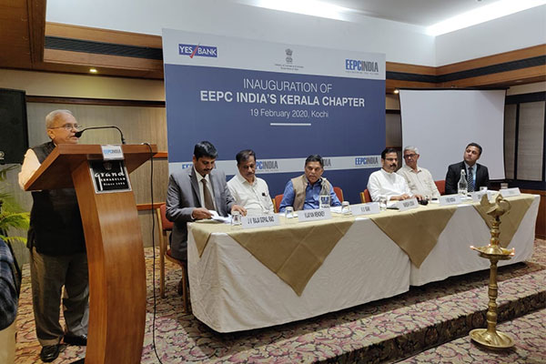 Mr. Mahesh K Desai, Sr Vice Chairman, EEPC India delivering inaugural address.