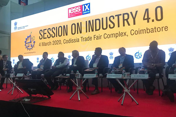 Dignitaries on the dais in a special session on Industry 4.0, jointly held with Department of Heavy Industry.