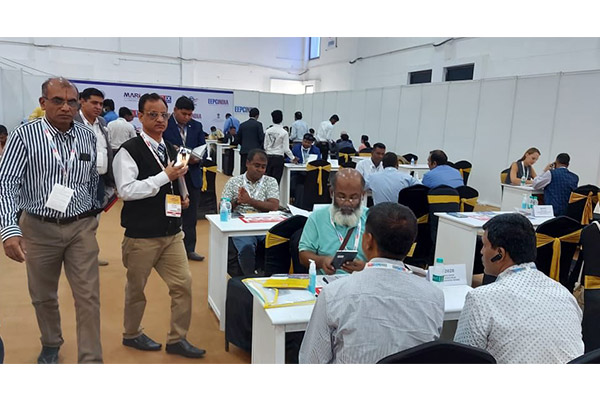B2B meetings between delegates from over 40 nations and Indian Counterparts