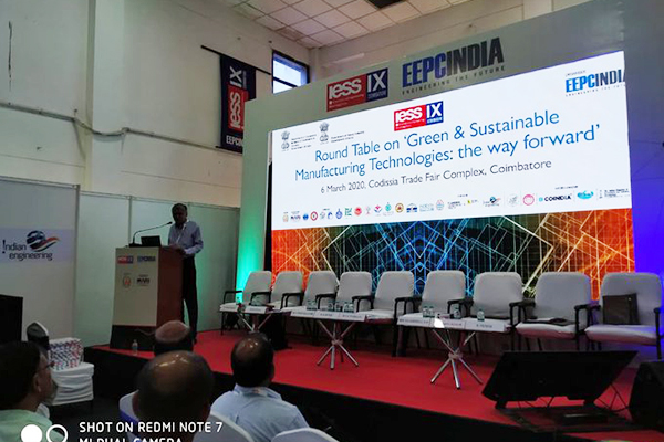 A joint session held by EEPC India and Department of Heavy Industry, Govt. of India on Green & Sustainable Manufacturing Technologies