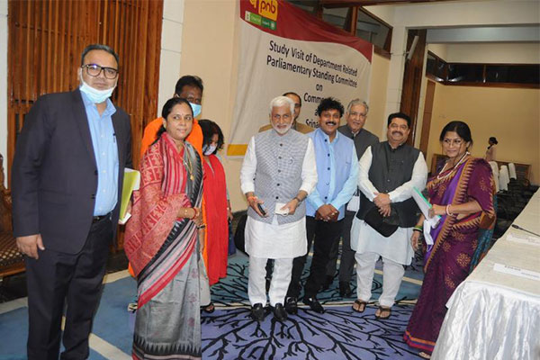 Mr. V. Vijayasai Reddy, Member of Parliament, Chairman of the Parliamentary Standing Committee, Government of India (5th from Left) attends the Meeting with dignitaries from Lok Sabha & Rajya Sabha.