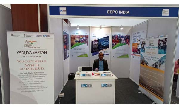 Mr. Kaushik Bhattacharjee, Sr. Executive Officer, EEPC India attends at EEPC India Booth.